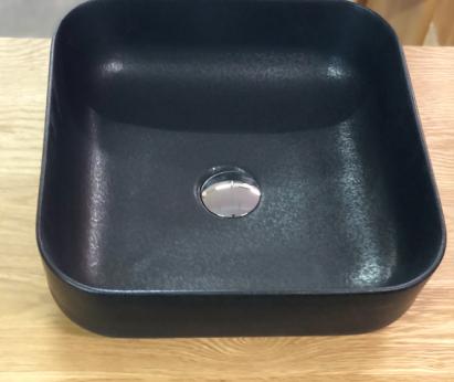 Zwarte keramische waskom NERO