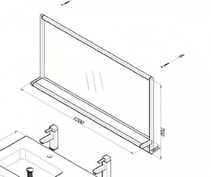 Metal 120 technische tekening