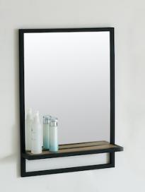 Spiegel Metal 60cm met planchet