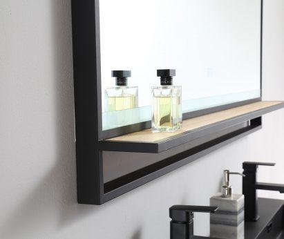 LED Spiegel zwart RVS