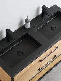Zwart Artificial wastafel 120cm